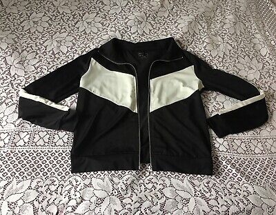 Womens Fab Bomber Gym Athletic Lightweight Zip Jacket Tracksuit Top Size 12 VGC
