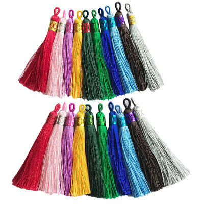 20Pc Silky Bookmark Tassels Bookmarks for Jewelry Making DIY Craft Accessory