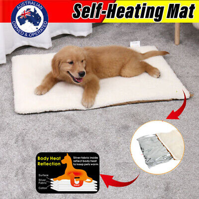 Self-Heating Heated Mattress Crate Pad Bed Large Pet Dog Soft Washable Cushion