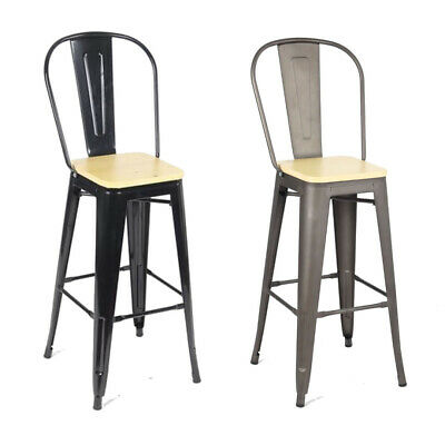 Metal Vintage Classic Breakfast Bar Stool Seat Chair Industrial Style Kitchen -