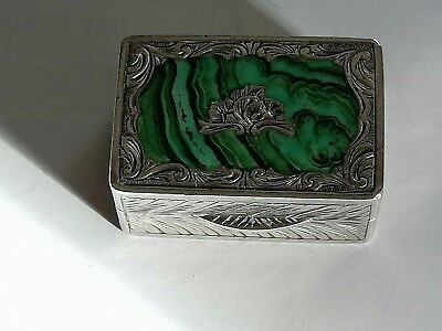 ANTIQUE 19 th CENTURY SILVER BOX SNUFF / PILL BOX POSSIBLY FRENCH OR AUSTRIAN