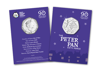 The World's First Peter Pan 50p Coin IOM BUNC
