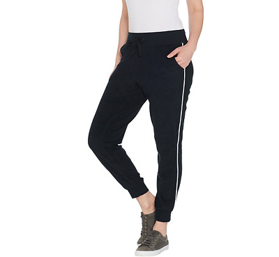 Tracy Anderson for G.I.L.I. Baby Terry Jogger Color Noir Black, Size Large