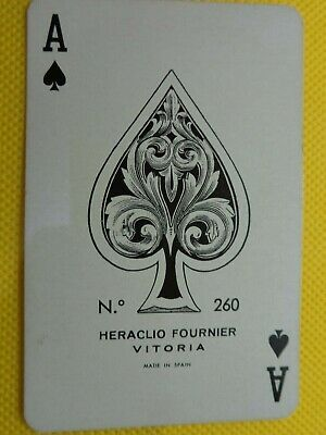 Vintage  Single Ace Of Spades  Card,  Swap Playing Card