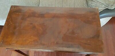 Antique Georgian Mahogany Card Table Fold Over Games Side Hall Table