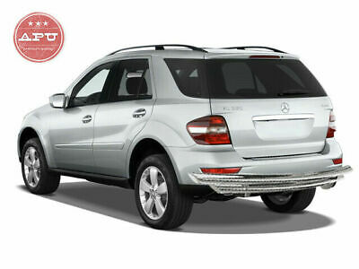 APU for 2006-2011 Mercedes ML GL W164 Stainless Rear Bumper Guard Double Layer