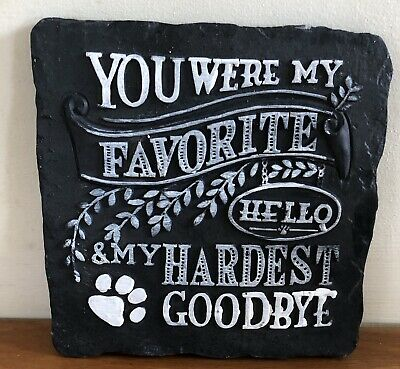 Latex Mould for making this Pet Memorial Plaque