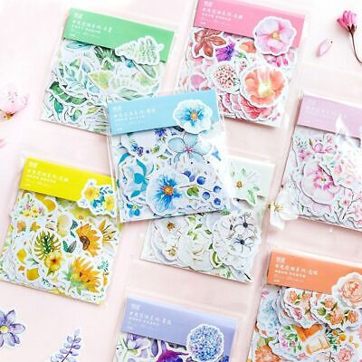 Flakes Self Adhesive Scrapbook Tags Diary Decor Masking Flower Stickers