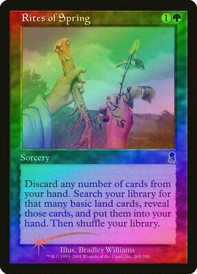Rites of Spring FOIL Odyssey HEAVILY PLD Green Common MAGIC MTG CARD ABUGames