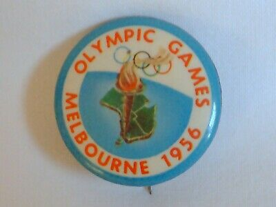 Olympic Games Collectable 1956 Melbourne Vintage Games Badge Button Pin