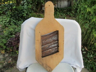 Antique Primitive Old Woodен Big Grатеr Vegetable