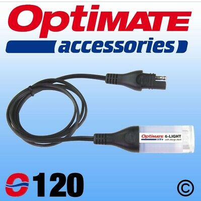 Genuine Optimate 6-Light Flashlight + Battery Check with SAE Connection (120)