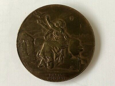French bronze medal siege of Paris 1870/71.  Medaille de Paris 1870/71