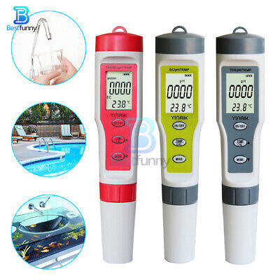 4 in 1 PH/EC/TDS/TEMP Test Water Quality Monitor Tester Digital Water Tester