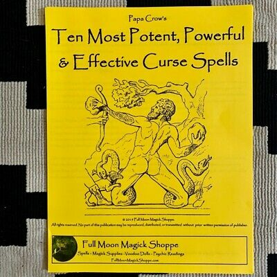Ten Most Powerful Curse Spells Booklet Voodoo Wicca Revenge Justice Death Loss