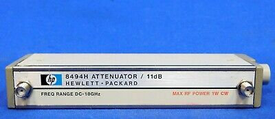 Agilent HP Keysight 8494H Programmable Step Attenuator 18 GHz Opt 002 Untested