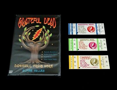 Grateful Dead Ticket DVD 1989 Alpine Valley Downhill From Here WI GDTS Tickets