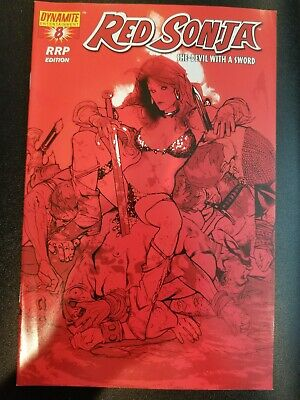 Red Sonja #8 NM RRP Adam Hughes Variant Extremely Low Print CGC it Dynamite