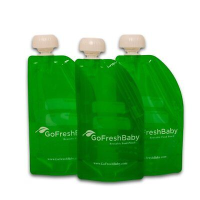 6 Pack Go Fresh Baby Reusable Food Pouch Refillable Homemade Foods Recyclable Ne