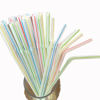 500Pcs Plastic Drinking Straws Disposable For Celebration Drink Party Supplies