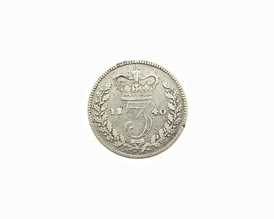 Victoria 1840 Young Head Silver Threepence