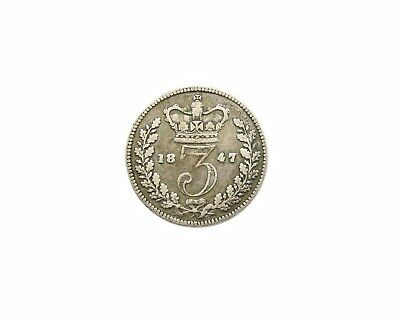 Victoria 1847 Young Head Silver Threepence - Extremely Rare
