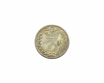 Victoria 1861 Young Head Silver Threepence