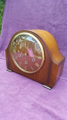 Vintage Antique Smiths Enfield Westminster Chime Mantel Clock Working See Video