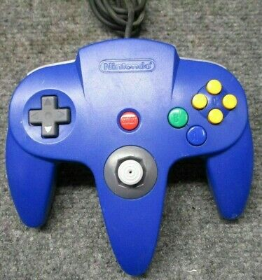 Official Nintendo 64 N64 Blue Controller ~Tested~ Authentic