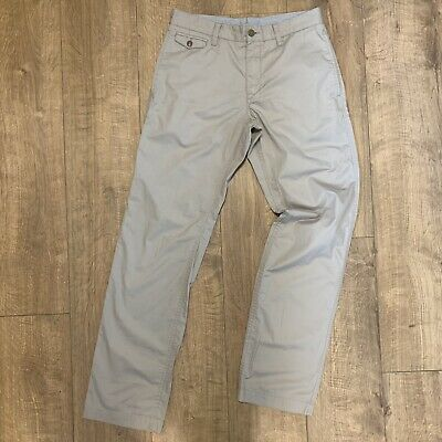 051d2e21 Lacoste Original Mens Flat Front Jean Chino Style Grey Trousers W30 L32  F6136