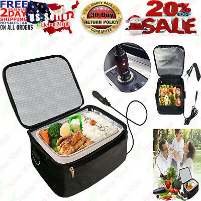 Lunch Box Stove 12V Portable Car Hot Food Warmer Heated Electric Oven Camping