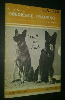 National Obedience Training Mag 1956 Military German Shepherd Manchester Terrier