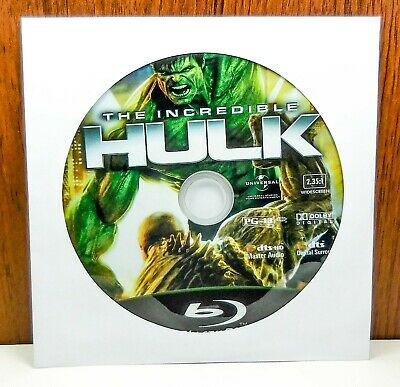 The Incredible Hulk - Disc Only (Blu Ray) Widescreen