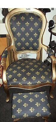 French Louis style Shabby chic bedroom chair