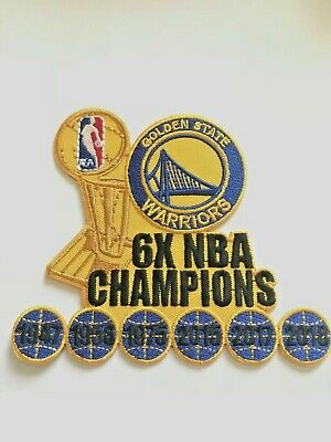 Golden State Warriors 6x Champions NBA Jersey Patch Iron On Sew  Hoodie Jacket