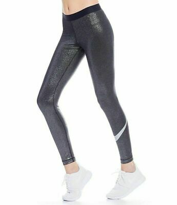 ad8e8d312fa58 Nike Pro Sparkle Women's Training Tights Metallic M Black Silver Casual Gym  BNWT