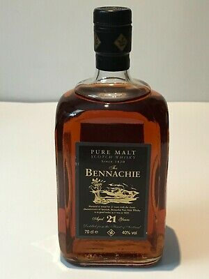 THE BENNACHIE 21 YEARS OLD PURE MALT SCOTCH WHISKY 70cl. 40% AÑOS 80