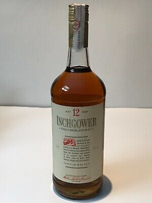 Inchgower 12 Years Old Single Highland Malt Whisky 1L 43% Años 90 Rare Limited