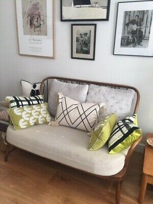 Golden dawn Jubilee Ercol two seater sofa with long cushion seat
