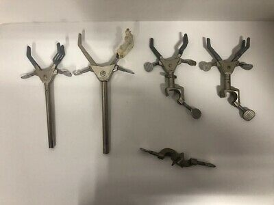 Lot of 5 - Fisher Castaloy-R - Boss Head Rod Lab Stand Support Clamps