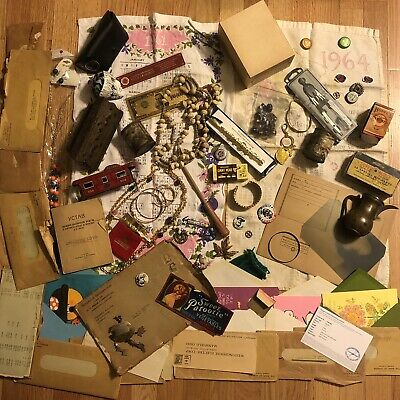 Old Antique Vintage Junk Drawer Estate Lot Old Stock Sale Jewelry Collectibles