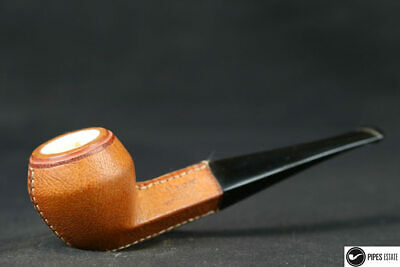 pipe Myon bulldog leather dressed with meerschaum insert  unsmoked neuve new