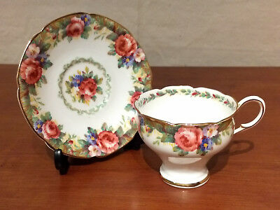 PARAGON Bone China England TAPESTRY ROSE By Appointment HM Queen Mary CUP SAUCER