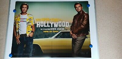 Once Upon A Time In Hollywood  [ Quad  Cinema Poster ] Pitt,De Caprio,Robbie