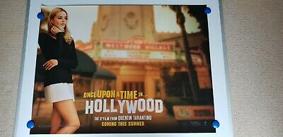 Once Upon A Time In Hollywood [Quad  Cinema Poster ] Pitt ,De Caprio,Robbie