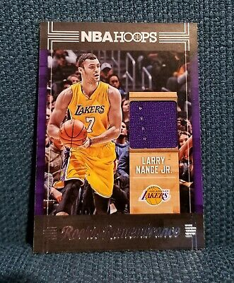 b3ad580a255 Larry Nance Jr. 2017-18 Panini Hoops Rookie Remembrance Jersey Card #RR-