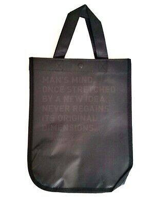 Lululemon Reusable Shopping Small Gift Bag Lunch Tote Black Oliver W. Holmes