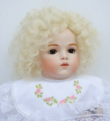 """Antique French Bru Doll Blonde Reproduction 19.5"""" Artist Made Beautiful"""