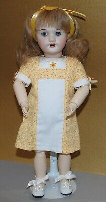"""Antique French Unis 301 Doll Reproduction 11"""" Blue Eyes"""
