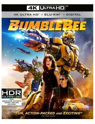 NEW 🐝BUMBLEBEE🐝(4K ULTRA HD+BLU-RAY+DIGITAL) With Slip Cover And Comic Book